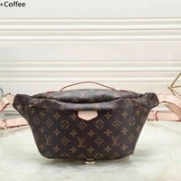 LV Louis Vuitton Fashion Leather Women's High-Quality Waist Bag Shoulder Bag Crossbody Bag F