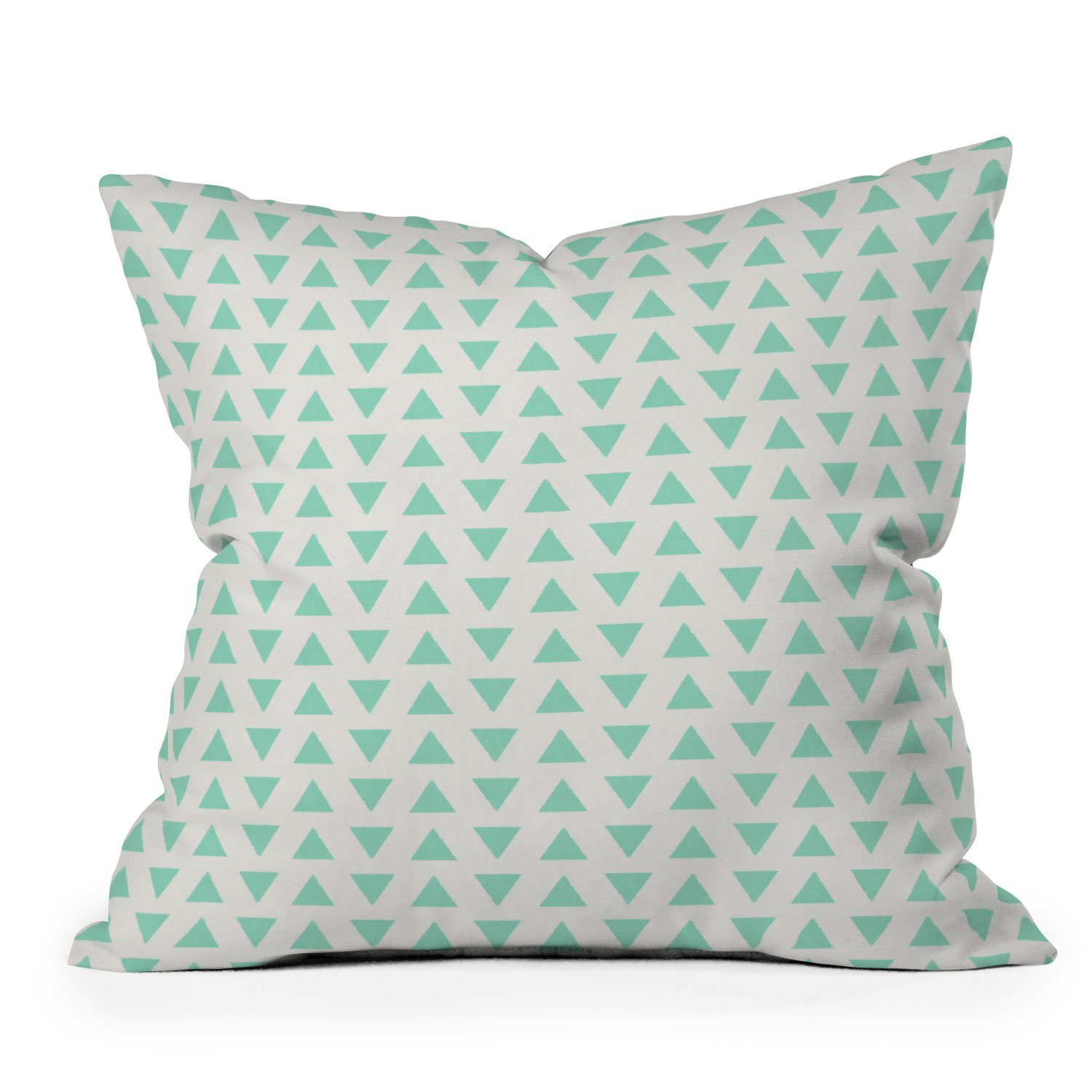 Image of Allyson Johnson Minty Triangles Throw Pillow