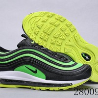 HCXX 19July 1015 Nike Air Max 97 OG QS 921733-014 Flyknit Breathable Running Shoes