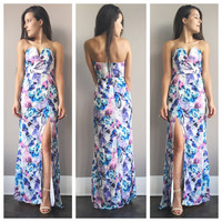 A Mermaid Floral Maxi