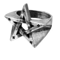 Alchemy Gothic Pentagration Pentagram Ring