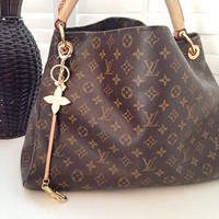 LV Fashion Single Shoulder Bag for Women's Printed Shopping Bags LV pattern coffee