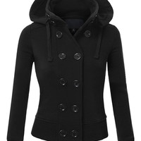 Stand Collar Woolen Hooded Clothes