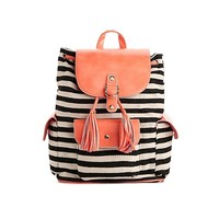 POVERTY FLATS by rian Striped Backpack