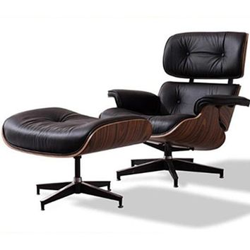Modern Leather Chaise Chair Lounge