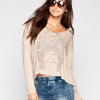 Life Chief Womens Hi Low Tee Oatmeal  In Sizes