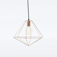 Copper Geometric Pendant Light - Urban Outfitters