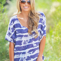 PIKO My Beautiful Sea Top - Navy