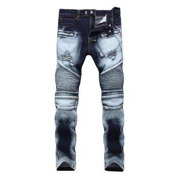 Slim Stretch Double Color Pants Jeans [127702466589]