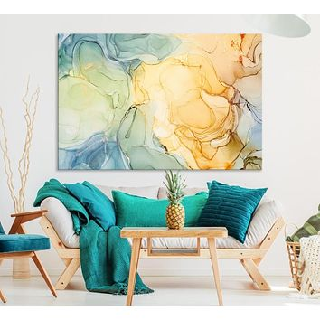 Extra Large Fluid Abstract Wall Art Canvas Print