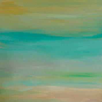 Abstract Landscape 16x20 Painting Original Artwork Modern Art on Ready To Hang Stretched Canvas