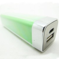 Green Lip Gloss 2200mAh Universal Mobile USB Portable Power Bank Charger 5V 1A output for Apple iPhone 5 4S 4 3Gs 3G, iPod Touch / Samsung Galaxy S3 S S2 S II, Galaxy Nexus / Blackberry Torch Bold Curve / HTC Sensation 4G, XE, XL, One X, Thunderbolt, EVO S
