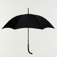 Oliver Ruuger Black Crocodile With Black Canopy Umbrella