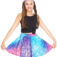 Girls Glitter Mirror Skater Skirt