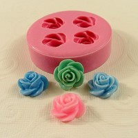 Rose Flower Mold Flexible Silicone Mold Mould for Crafts Fondant Candy resin sculpey fimo polymer clay (13mm) (222)