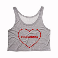 Fireworks Heart Crop Top