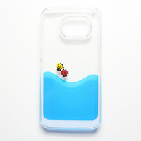 Liquid Swimming Water Neo Fish Blue Samsung Galaxy S6 Edge S6 S5 Case N0006-1