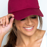 Tune In Baseball Cap - Burgundy