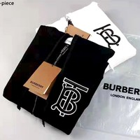 Burberry new embroidered TB letter zipper sweater