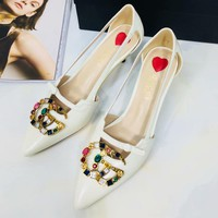 Gucci Women Fashion Casual Heels Shoes-8