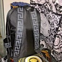 VERSACE BACKPACK SPORT CASUAL BAG GREEK KEY UNISEX CHRISTMAS SALE