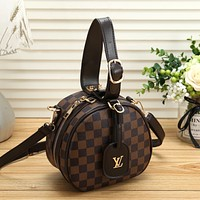 Louis Vuitton LV Women Shopping Leather Tote Crossbody Satchel Shoulder Bag Handbag