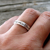 Custom and Personalized Tiny Text Ring in by deliasthompson