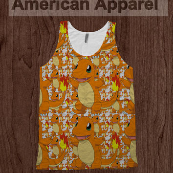 Charmander Pokemon Tee - American Apparel Tank Top Promethazine Dye Sublimation
