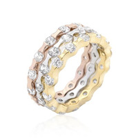 Tri-tone Stackable Rings, size : 09