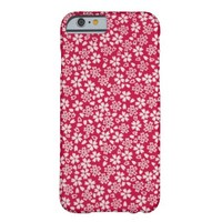 Red Floral Textile iPhone 6 Cases