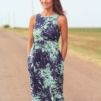 Tropical Maxi Dress with Pockets