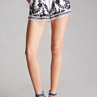 America & Beyond Applique Shorts