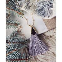 The Tassel Necklace in Gray