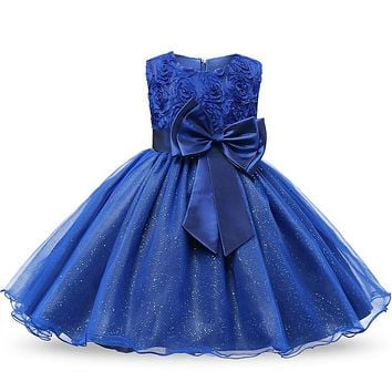 Birthday Party Little Dress Baby Girl Christening Gowns Kids Events Party Wear Clothes Girls Boutique Clothing