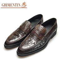 Men Leather Shoes Brown Slip On Fashion Male Shoes