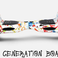 10 Inch Bluetooth Enabled Generation Boards Graffiti Self Balancing Scooter