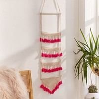 Neon Tassel Wall Hanging   Urban Outfitters