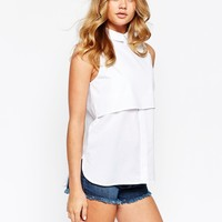 River Island Sleeveless Double Layer Shirt
