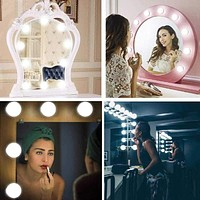 Makeup Mirror Vanity LED Light Bulbs lamp Kit 3 Levels Brightness Adjustable Lighted Make up Mirrors Cosmetic light