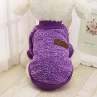 Classic Warm Dog Clothes Puppy Pet Cat Jacket Coat Winter Fashion Soft Sweater Clothing For Small Dogs Chihuahua XS-2XL
