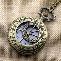 Doctor Who Pocket Watch With Chain Necklace