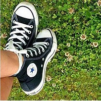 """Wearwinds """"Converse"""" Fashion Canvas Flats Sneakers Sport Shoes High tops Black"""