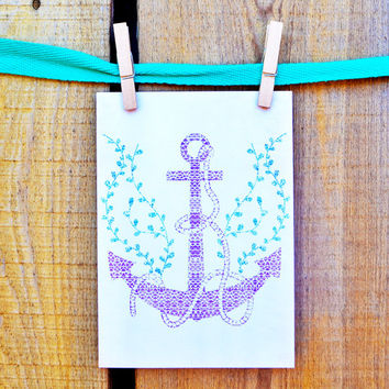 Tribal Nautical Greeting Card | Thank You Card | Birthday Card | Notecard