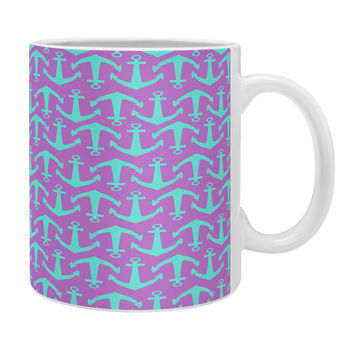 Allyson Johnson Purple Anchors Coffee Mug