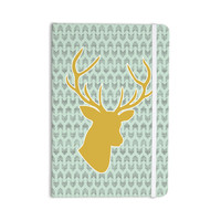 "Pellerina Design ""Golden Deer"" Yellow Green Everything Notebook"