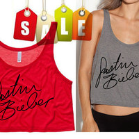Justin Bieber Signature Cropped Tank Top Preorder by SoulClothes
