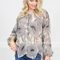 Shimmer Palms Sheer Top