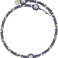 MLB New York Yankees Team Color Frozen Rope Baseball Necklace