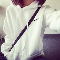 "Fashion ""NIKE"" Hooded Pullover Tops Sweater Sweatshirts"