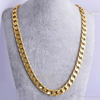 Gold Filled Cuban Chain Necklace
